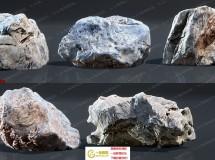 超级逼真纹理凹凸扫描石头工具UE4游戏素材资源