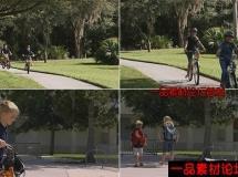 小学生骑车放学回家高清实拍视频素材1080P