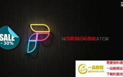 霓虹灯文字Logo动画工具包 Neon Sign Creator