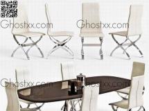 3D桌椅组合  办公室会议桌椅3D模型高品质 3D模型下载