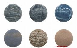 100款4K石头大理石墙壁混凝土PBR无缝材质纹理贴图