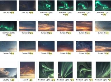 85张天空图片素材 Visual Of Jelius Sky Bundle