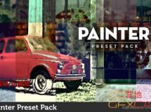 油画水彩画风格视频AE预设 Painter Preset Pack
