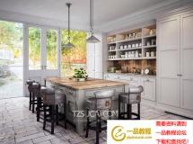 3D橱柜模型  北欧厨房[模型 3D模型下载
