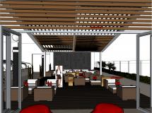 酒店咖啡吧Terraza_hotel-56M草图大师su模型
