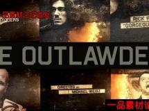 电影电视剧开场人物介绍AE模版,The Outlawders