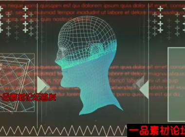 搜索变形界面动画高清视频素材,3D Morphing Faces in Search Int