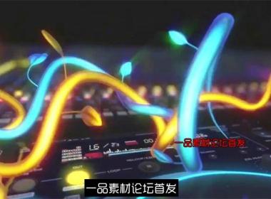 三维动感节奏碟机藤蔓生长酒吧夜店LED动态背景视频素材
