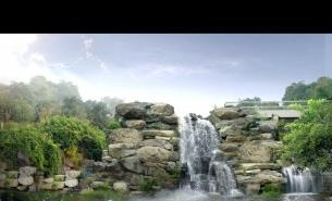 人造假山 人造瀑布