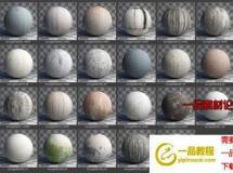 C4D CORONA渲染器划痕材质预设 Poliigon Textures Grunge for CORONA