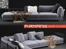 3D沙发模型  布艺转角沙发3D模型
