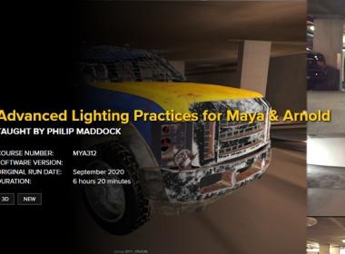Maya阿诺德渲染器灯光渲染教程 FXPHD – MYA312 – Advanced Lighting Practices for Maya & Arnold