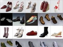100个精品3d鞋子模型-一品素材单体模型库下载