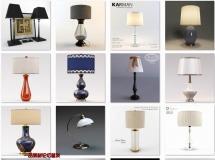 28个高精度时尚台灯3D模型