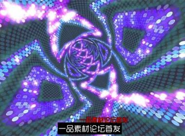 炫酷潮流变幻隧道方块舞台灯光走秀歌舞派对LED舞台背景视频素材