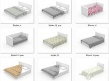 40个床单模型和10个枕头模型下