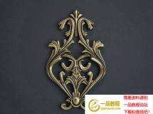 3D雕花模型  欧式金属雕花-3d模型下载