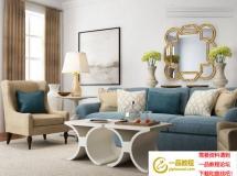 沙发背景墙3D模型下载