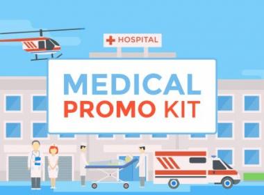 健康医疗医院场景元素MG动画 Healtcare- Medical -AE模板