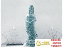 3D装饰模型  陶瓷佛像摆放品