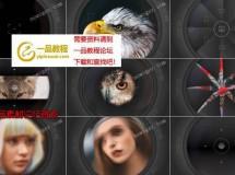 12例快速的相机快门转场动画AE源文件