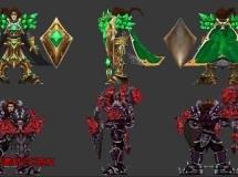 英雄联盟最新的宝石骑士全套3D模型