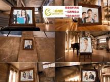 三维室内空间中的相框照片展示AE模板