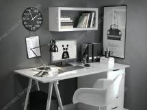 书桌椅电脑桌组合 高品质模型下载