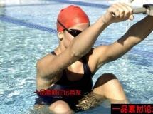 游泳健将游泳慢镜头高清实拍视频素材1080P