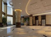 酒店大厅模型效果图