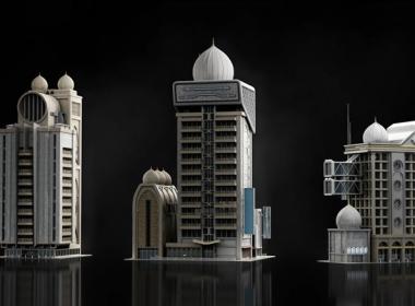 Kitbash3D-Neo.Dubai迪拜建筑3D模型 C4D/3DS MAX/FBX/OBJ/Maya/Blender/Houdini格式