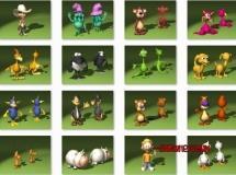 20个卡通角色模型下载