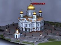 俄罗斯建筑Maya模型