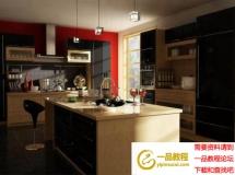 时尚现代厨房模型