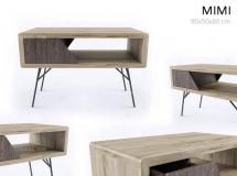 3D茶几模型 北欧实木茶几柜子3D模型