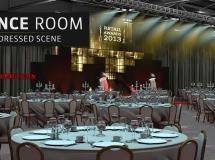 会议酒席大厅C4D模型包