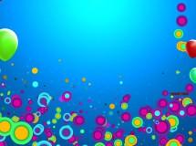 可爱气球圆点卡通led背景视频