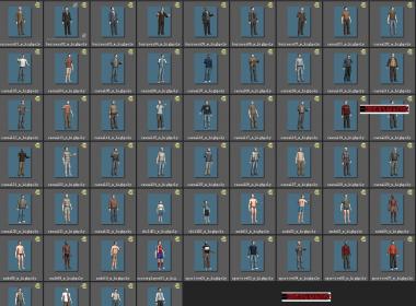 104个 逼真的人体3D人物模型 人物角色模型下载