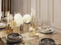 香槟酒杯 酒杯餐具模型 高品质模型