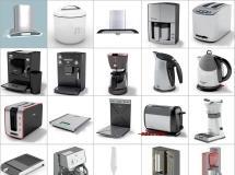 100个精品厨房电器模型 -一品素材单体模型库下载