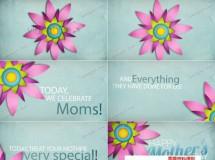 适合母亲节或复活节主题的内容展示AE模板