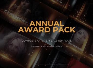 优雅金色粒子颁奖典礼包装片头 Annual Awards