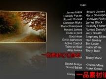 电影工作人员介绍字幕AE模板,Videohive Film Credits 58819 Pro