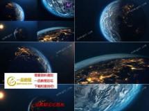 5组浩瀚太空地球震撼动画场景AE模板