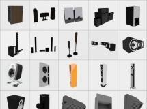 100个精品音响模型-一品素材单体模型库下载