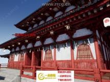 日本寺庙模块化3D模型UE4游戏素材资源