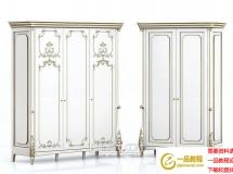3D衣柜模型  法式风格衣柜3Dmax模型下载