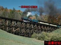 飞驰的蒸汽火车高清实拍视频素材1080P