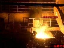 冶金倒铁水高清实拍视频素材1080P
