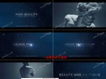 唯美粒子星光标题和优雅风电影预告片AE模板